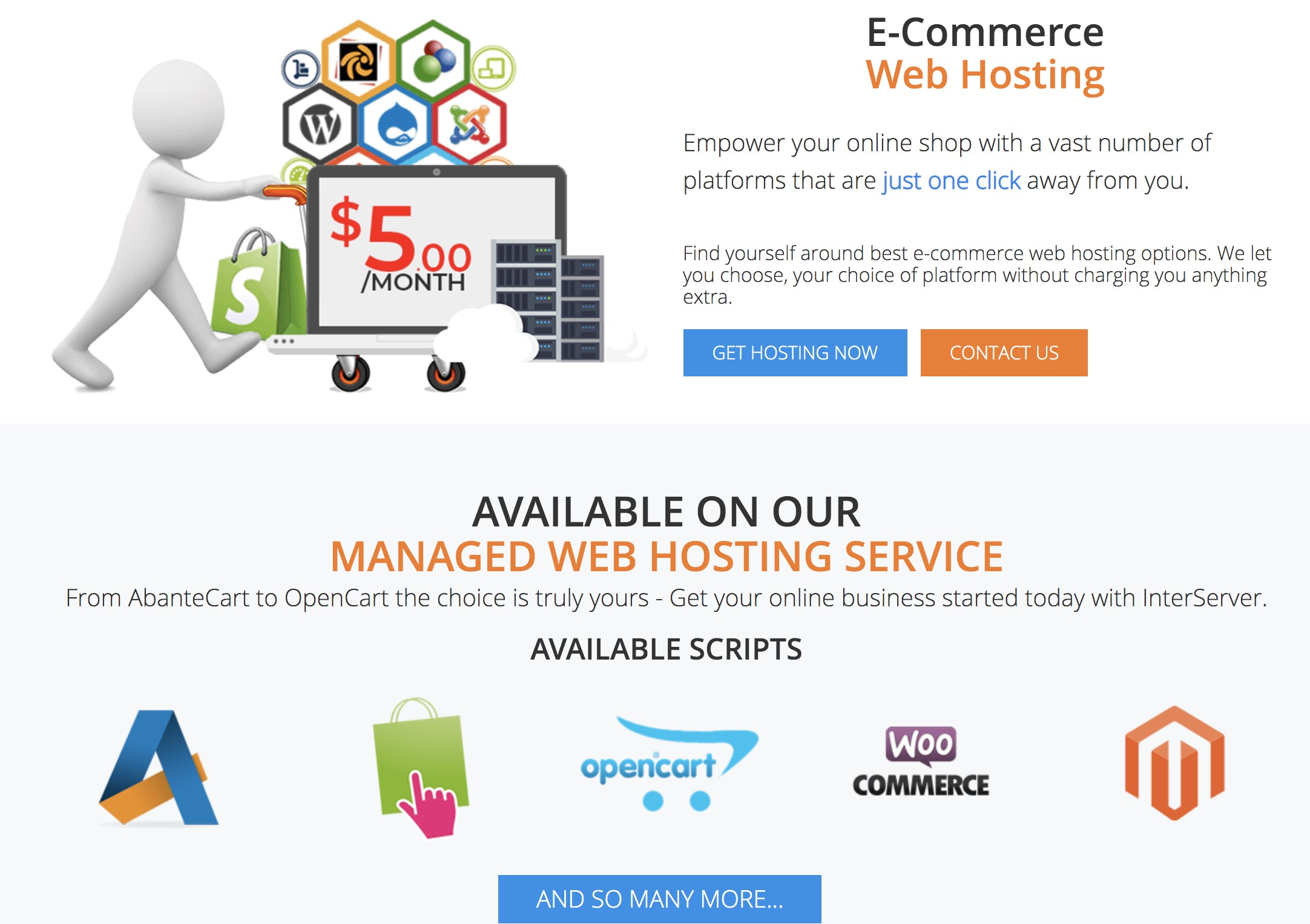 InterServer eCommerce Web Hosting Price