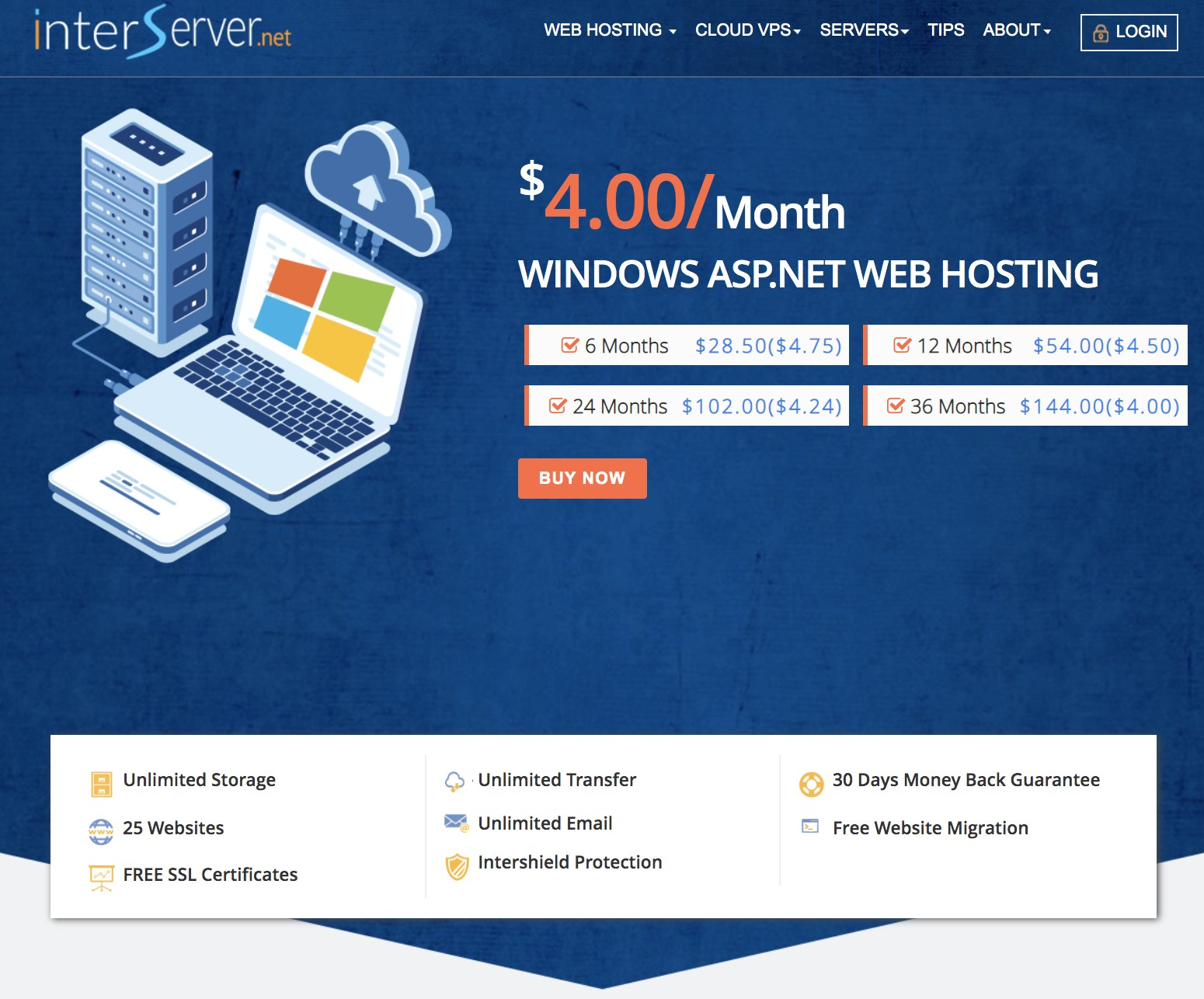 InterServer Windows ASP Net Hosting